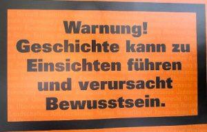 Warnschild-Geschichte